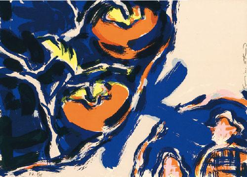 18.- Miwako Yamaguchi,  Serigrafía de  43 x 31 cms.