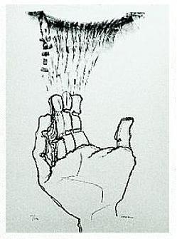 12.- Cuanto más alto se sube, Litografía, 49  x 35 cm., soporte 49 x 35 cm.