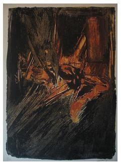 4.- Casida de la mujer tendida, Litografía, mancha 41,8 x 30,7 cm., soporte 45,3 x 33,4 cm.