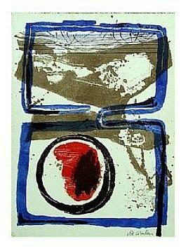 4.- Océana,  Litografía, mancha 47 x 34,5 cm., soporte 47 x 34,5 cm.