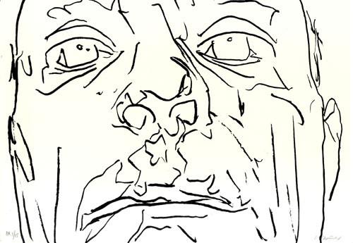 4.- Frankenstein,  Serigrafía de  43 x 31 cms.