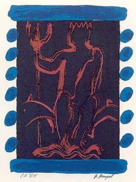 15.- Manuel Barnuevo (Odín),  Serigrafía de  43 x 31 cms.