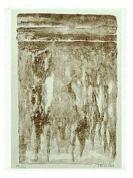 6.- Muerte viva eres, Litografía, mancha 45,5 x 33 cm., soporte 45,5 x 33 cm.
