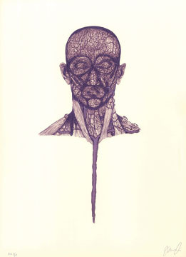 15.- El Bebedor de Lágrimas,  Serigrafía de  43 x 31 cms.