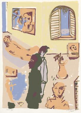 1.- La obra maestra desconocida, Serigrafía de  43 x 31 cms.
