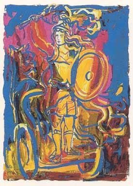 11.- Antonio Martínez Mengual (Neptuno),  Serigrafía de  43 x 31 cms.
