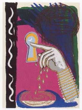 8.- El Cantar de los Cantares,  Serigrafía de  43 x 31 cms.