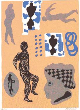 7.- Purgatorio  Serigrafía de  43 x 31 cms.