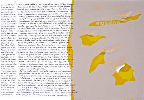5.- Topología hermenéutica, o bien hermenéutica topológica, Serigrafía de  43 x 31 cms.
