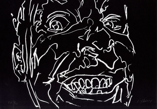 12.- Frankenstein,  Serigrafía de  43 x 31 cms.