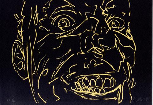 13.- Frankenstein,  Serigrafía de  43 x 31 cms.