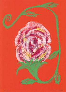 5.- Floraleza,  Serigrafía de  43 x 31 cms.