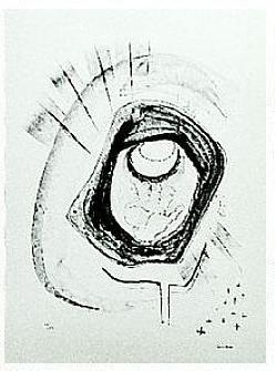 14.- Oh, mi Dios, cuando será, Litografía, 49  x 35 cm., soporte 49 x 35 cm.