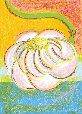 11.- Floraleza,  Serigrafía de  43 x 31 cms.