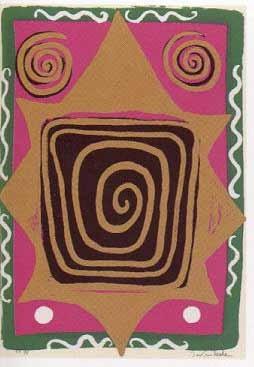18.- El Cantar de los Cantares,  Serigrafía de  43 x 31 cms.