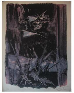 Prologo,  Litografía, mancha 41,8 x 30,7 cm., soporte 45,3 x 33,4 cm.