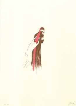 7.- El Bebedor de Lágrimas,  Serigrafía de  43 x 31 cms.