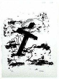 8.- En soledad vivía, Litografía, 49  x 35 cm., soporte 49 x 35 cm.