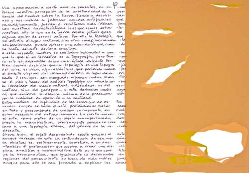 16.- Topología hermenéutica, o bien hermenéutica topológica, Serigrafía de  43 x 31 cms.