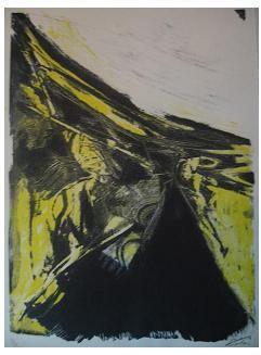 8.- Casida de la muchacha dorada, Litografía, mancha 41,8 x 30,7 cm., soporte 45,3 x 33,4 cm.