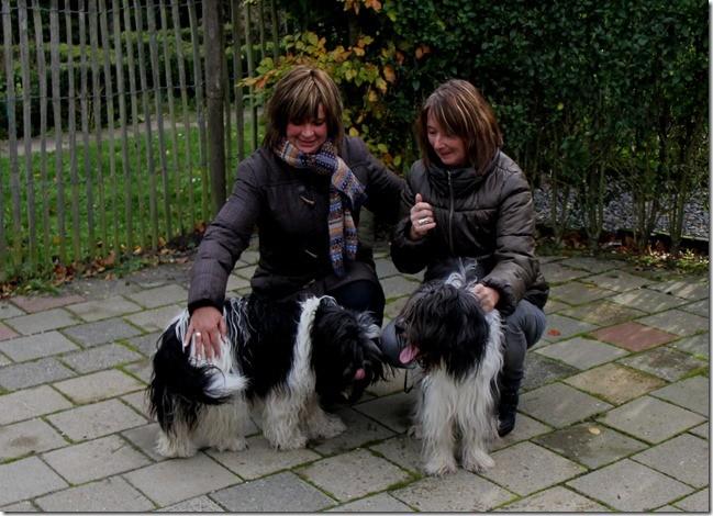 Linda und Maartje mit Willma und Blitz