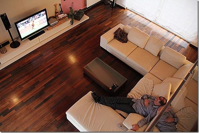 Wohnzimmer von Galerie aus fotografiert