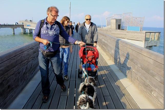 Treffen mit Bekannten in Heiligenhafen