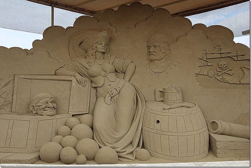 Kunst aus Sand in Warnemünde