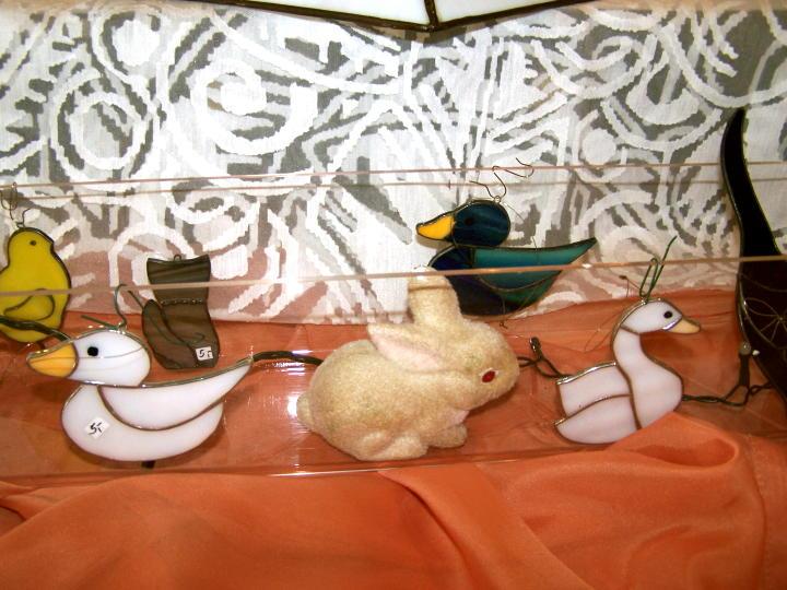 Alle meine Entchen von Tiffany...leisten dem Osterhasen Gesellschaft...