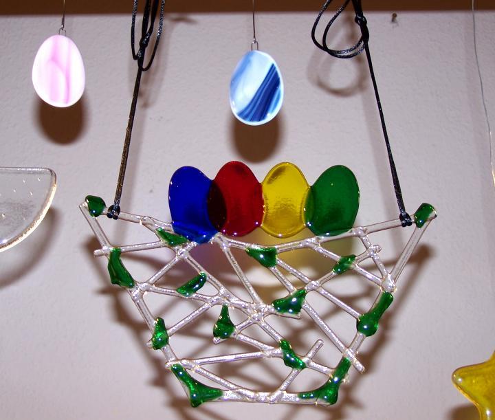Oh, oh, oh...vorsicht!  Ostereier aus Glas von Petra... in Liebe gefertigt.