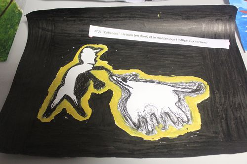 """N°21 """"Caballero"""" : le bien (en doré) et le mal (en noir) infligé aux terriers"""