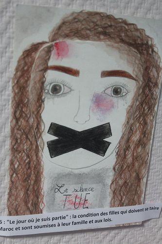 """N°26 : """"Le jour où je suis partie"""" : la condition des filles qui doivent se taire au Maroc et sont soumises à leur famille et aux lois."""