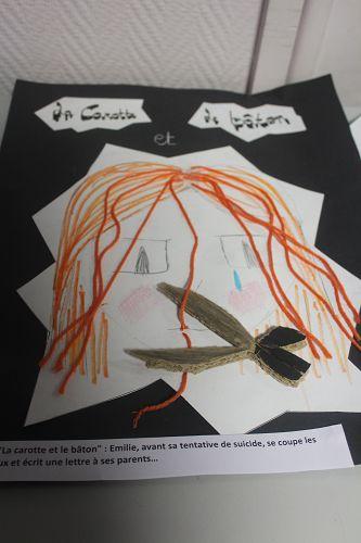 """N°14 """"La carotte et le bâton"""" : Emilie, avant sa tentative de suicide, se coupe les cheveux et écrit une lettre à ses parents…"""