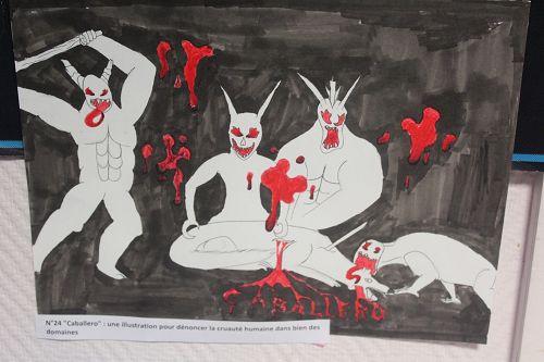 """N°24 """"Caballero"""" : une illustration pour dénoncer la cruauté humaine dans bien des domaines"""