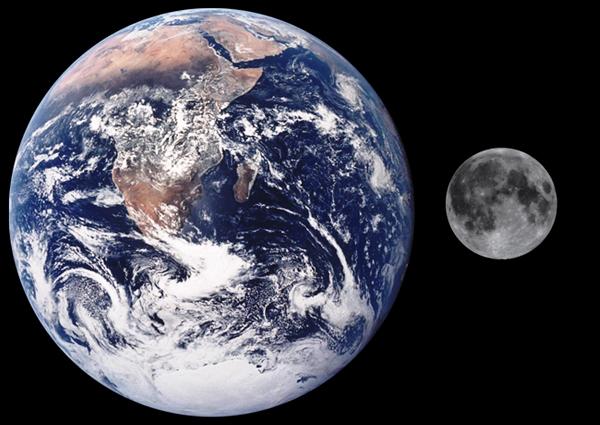 Comparación Tierra Luna