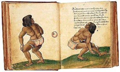 Códice europeo que explica el juego de  pelota en Mesoamérica.