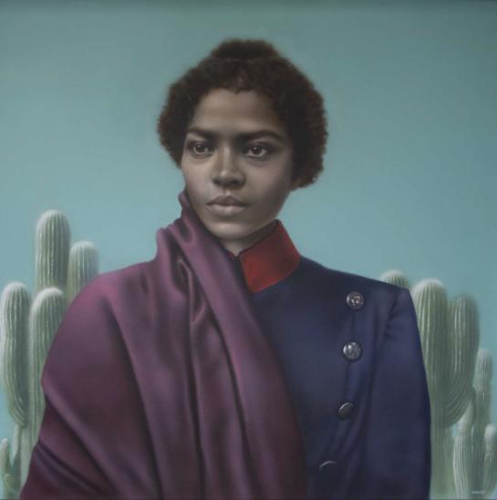 La Capitana - María Remedios del Valle. Por Gisella Banzer 1er. premio en el concurso de retrato a la Madre de la Patria del Ministerio de Cultura de la Nación.