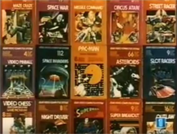 Publicidad de los juegos de Atari.