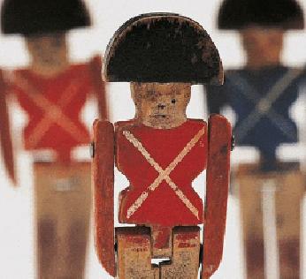 Antiguos soldaditos de madera.