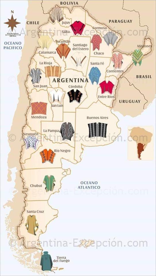El poncho provincia por provincia.