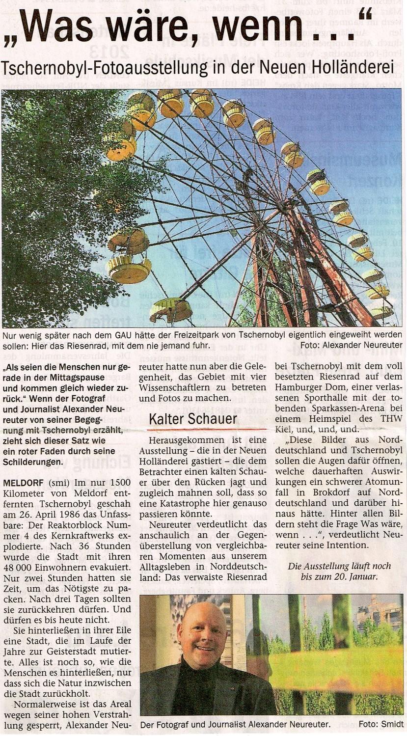 aus dem NordAnzeiger (Heide) vom 16. Januar 2013