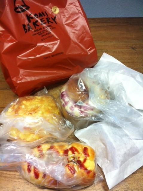 コミのパンを頂いた♪ いろいろと関さんありがとうございました。