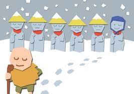 学校での劇で『傘地蔵』をするらしいです。 どんな内容だったか忘れてたので、話を教えてもらってたら冒頭で完璧に思い出しました! 昔話っていいですよね。 起承転結がはっきりしてるから、子供に道徳を教えやすくて、。 *ちなみに傘地蔵の哲平の役どころは、傘を被ってな地蔵の役だそうですww