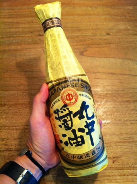 無添加で美味いお醤油らしい! 見た目が既に美味そうやし! 田中さんありがとうございます。