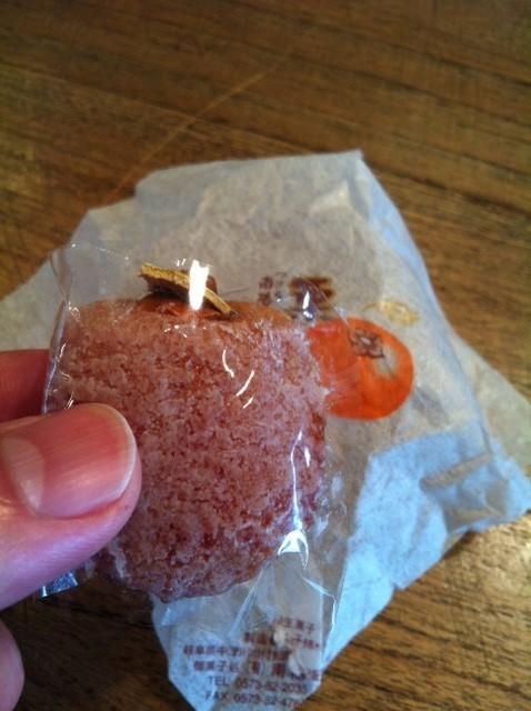 干し柿に栗をサンドした和菓子を頂いた。 高級なお味でした、、、大事に頂きますね。  中村さんありがとうございます。