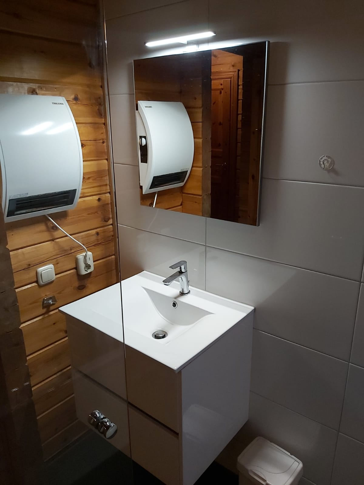 Badkamer - houten huisje