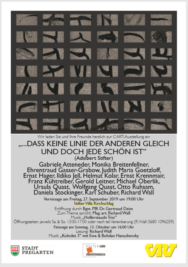 Ausstellungsbeteiligung Krchschlag, OÖ - Ausstellungsfotos: Bild anklicken!