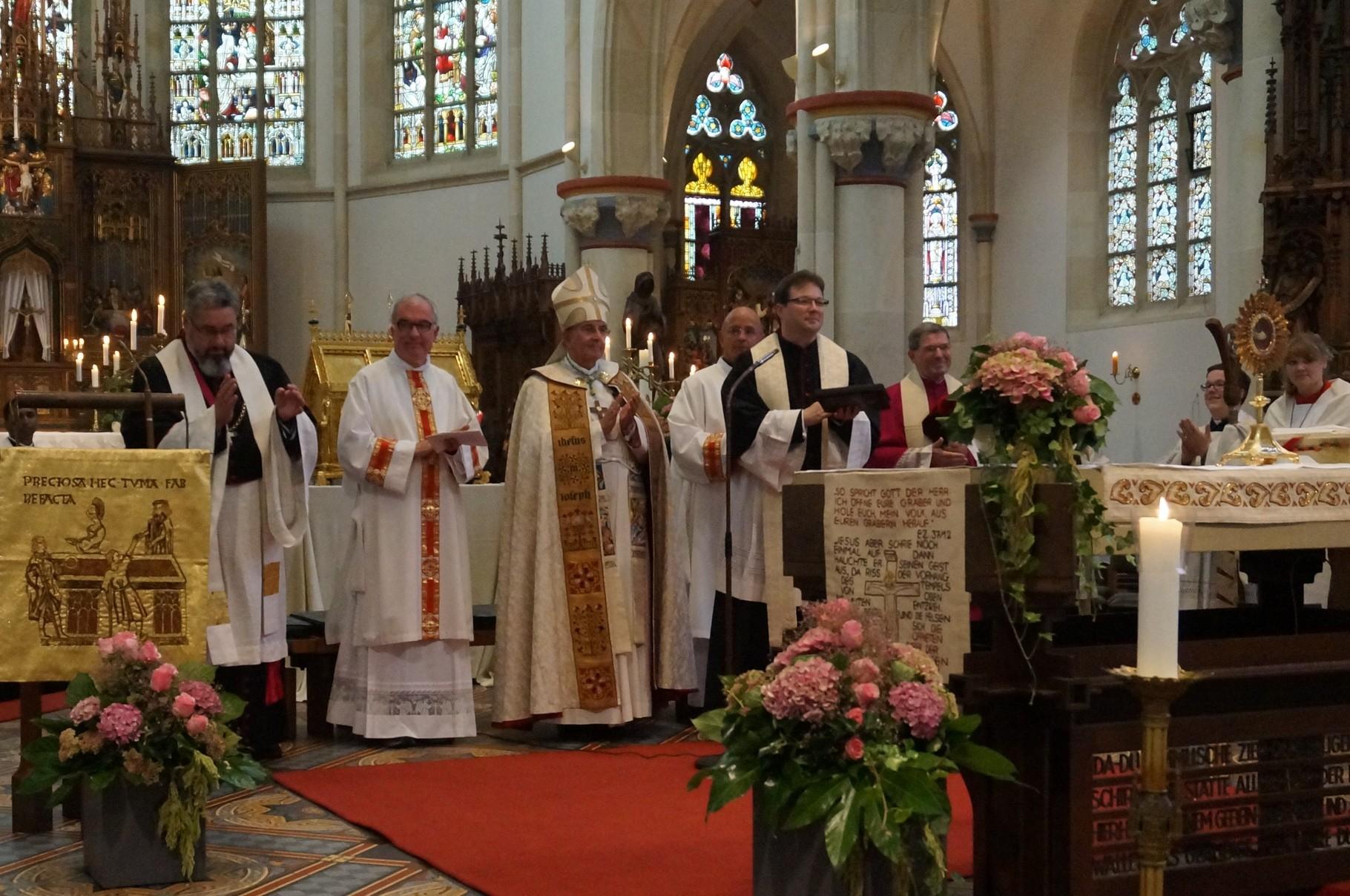 Danke von Pastor Kosmann an den Bischof und alle Beteiligten