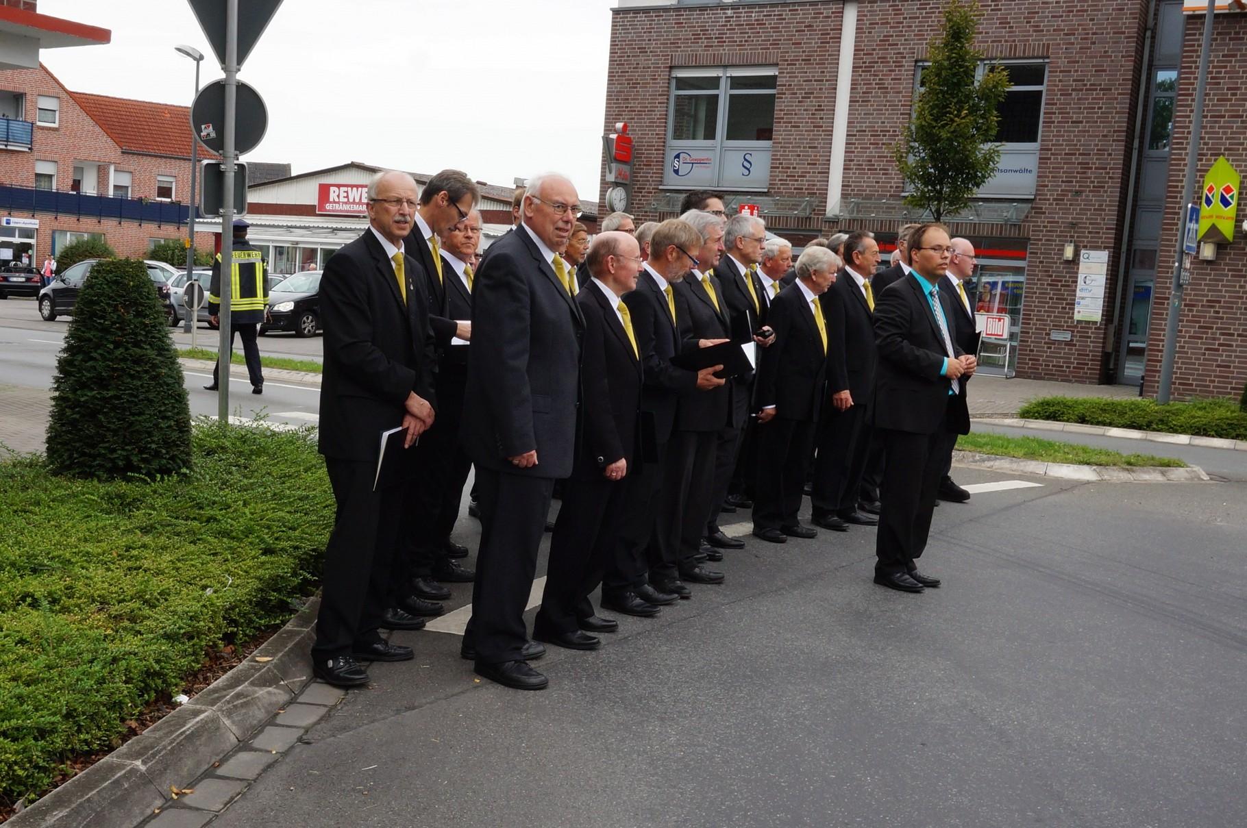 MGV Herzfeld-Hovestadt am Kreisverkehr