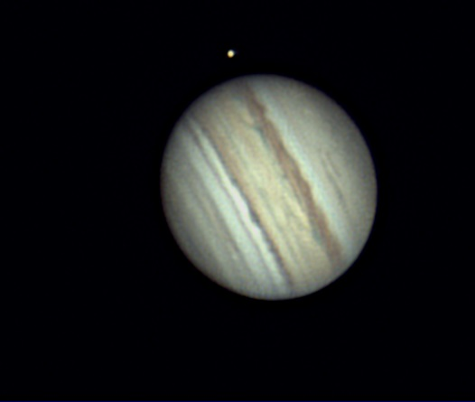 Jupiter et son satellite Io